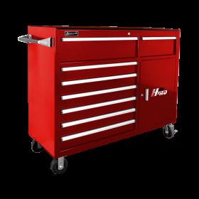 Homak 56 Inch H2Pro  8 Drawer w/ 2 Drawer Comp Roller - Red RD04056082