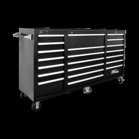 Homak 72 Inch H2Pro Series 21 Drawer Rolling Cabinet - Black BK04021720