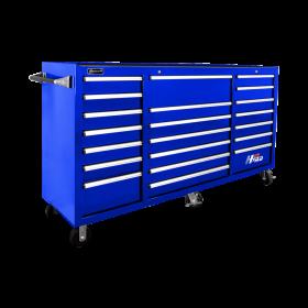Homak 72 Inch H2Pro Series 21 Drawer Rolling Cabinet - Blue BL04021720