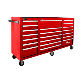 Homak 72 Inch H2Pro Series 21 Drawer Rolling Cabinet - Red RD04021720