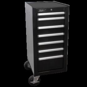 Homak 18 Inch H2Pro Series 7 Drawer Side Cabinet - Black BK08018070