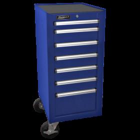 Homak 18 Inch H2Pro Series 7 Drawer Side Cabinet - Blue BL08018070