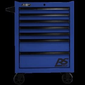 Homak 27 Inch RS PRO 7 DWR ROLLER CABINET-BLUE BL04027770