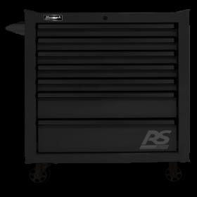 Homak 36 Inch RS PRO 7 DWR ROLLING CABINET-BLACK BK04036070