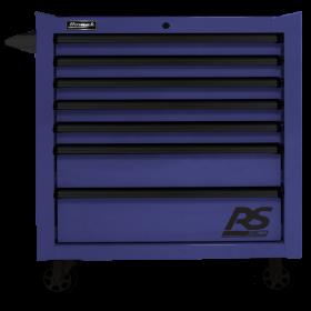 Homak 36 Inch RS PRO 7 DWR ROLLING CABINET-BLUE BL04036070