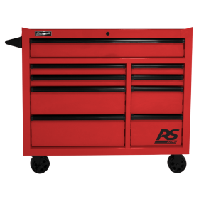 Homak 41 Inch RS PRO 9 DWR ROLLING CABINET-RED RD04004193