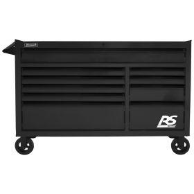 Homak 54 Inch RS PRO 10 DWR ROLLING CABINET-BK BK04054010