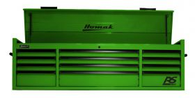 Homak 72 Inch RS PRO 12 DR TOP CHEST W/OUTL-LG LG02072120