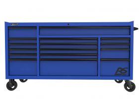 Homak 72 Inch RS PRO 16 DWR ROLLER CABINET-BLUE BL04072160