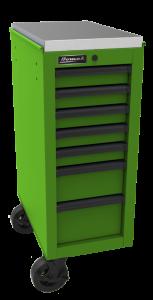 Homak 14 1/2 Inch RS Pro 7-Drawer Side Cabinet - Lime Green LG08014070