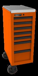 Homak 14 1/2 Inch RS Pro 7-Drawer Side Cabinet - Orange OG08014070