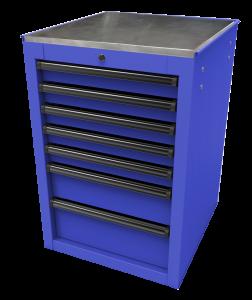 Homak 22 Inch RS Pro 7-Drawer Side Cabinet - Blue BL08022070