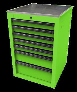 Homak 22 Inch RS Pro 7-Drawer Side Cabinet - Lime Green LG08022070