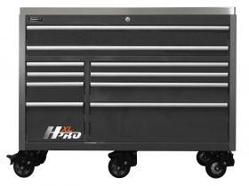 Homak HXL 60 Inch Roller Cabinet  w/SS Top- Black HX04060111