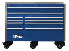 Homak HXL 60 Inch Roller Cabinet  w/SS Top - Blue HX04060112