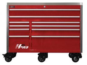 Homak HXL 60 Inch Roller Cabinet  w/SS Top - Red HX04060113