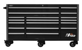 Homak HXL 72 Inch Roller Cabinet with SS Top - Black HX04072171