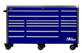 Homak HXL 72 Inch Roller Cabinet with SS Top - Blue HX04072172