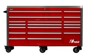 Homak HXL 72 Inch Roller Cabinet with SS Top - RED HX04072173