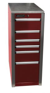 Homak HXL Side Cabinet - Red HX08015063