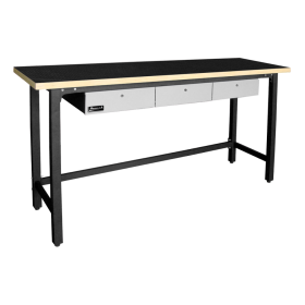 Homak Steel Workbench w/ 3 Drawers & Wood Top  GS00579030