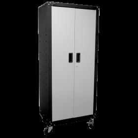 Homak 2 Door Tall Mobile Cabinet w/ 4 Shelves GS00765021