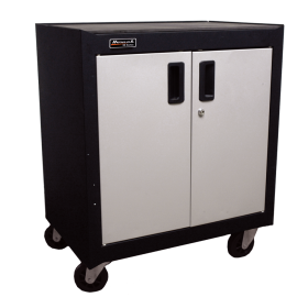 Homak 2 Door Mobile Cabinet w/ Gliding Shelf  GS04002270