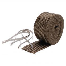 DEI Exhaust Wrap Kit - Pipe Wrap & Locking Tie - Titanium - 10123