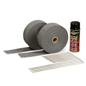 DEI Exhaust Wrap Kit - Black Wrap & Black HT Silicone Coating - 10110