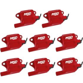 MSD GM LS2/LS7 Pro Power Coil - 8-Pack (Red) 82878