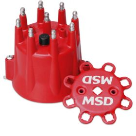 MSD GM V8 HEI Retainer Distributor Cap (Red) 8433
