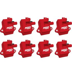 MSD GM LS1/LS6  Pro Power Coils - 8-Pack (Red) 82858