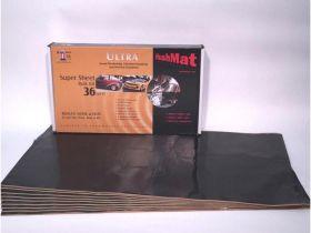 HushMat Super Bulk Kit - Stealth Black Foil with Self-Adhesive Butyl-9 Sheets 18 Inchx32 Inch ea 36 sq ft 10800