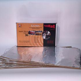 HushMat Super Bulk Kit - Silver Foil with Self-Adhesive Butyl-9 Sheets 18 Inchx32 Inch ea 36 sq ft 10801
