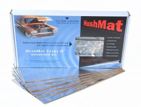 HushMat Universal Auto & Truck Heavy Duty Hoodliner Insulation - 6 Sheets 12 Inchx23 Inch ea 50100