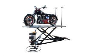 Titan Lifts Motorcycle Lift - Black/Grey - Diamond Plate Table - Ramp - Front & Side Extensions - 1500 lb. Capacity HDML-1500XLT-E-BG