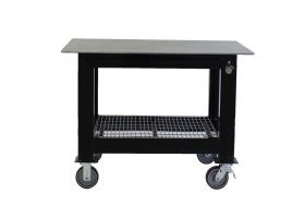 BADASS Workbench 3X4WELD-12WC 3FT DEEP X 4FT LONG X 36 Inch TALL WELDING TABLE WITH 1/2 Inch PLATE STEEL TOP & CASTERS - 3X4WELD-12WC