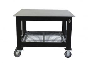 BADASS Workbench 4X4WELD-12WC 4FT DEEP X 4FT LONG X 36 Inch TALL WELDING TABLE WITH 1/2 Inch PLATE STEEL TOP & CASTERS  - 4X4WELD - 12WC
