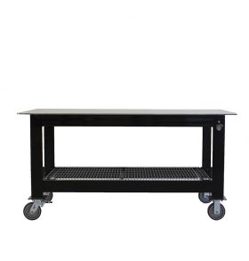 BADASS Workbench 3X6WELD-14WC 3FT X 6FT X 36 Inch TALL WELDING TABLE WITH 1/4 Inch PLATE STEEL TOP & CASTERS  - 3X6WELD-14WC