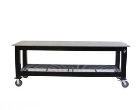 BADASS Workbench 4X8WELD-38WC 4FT X 8FT X 36 Inch TALL  WELDING TABLE WITH 3/8 Inch PLATE STEEL TOP & CASTERS  - 4X8WELD-38WC