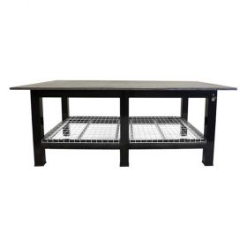 """BADASS Workbench 5X8WELD-1WC 5FT X 8FT X 36"""" TALL  WELDING TABLE WITH 1"""" PLATE STEEL TOP & CASTERS  - 5X8WELD-1WC"""