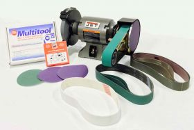 1 HP Jet Grinder with Multitool Attachment and Sanding Belts
