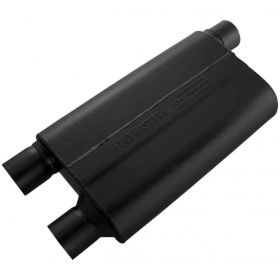 Flowmaster 80 Series CrossFlow Muffler - 2.50 Offset In/2.50 Dual Out 42583