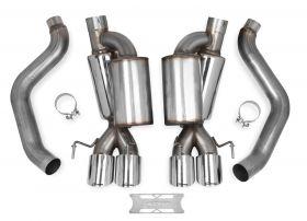05-08 Chevrolet Corvette Hooker Blackheart Axle-Back Exhaust w/Mufflers 70401312-RHKR