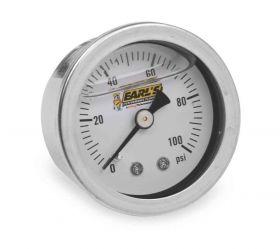 "Earls Oil-Filled Pressure Gauge - 0-100 PSI - 1/8"" NPT Male Thread 100187ERL"