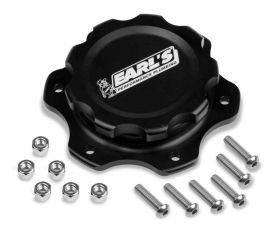 Earls Billet Fuel Cell Cap 6-Bolt Flange - Black 166016ERL