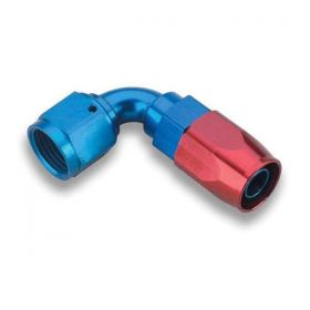 Earls 90 Degree Swivel-Seal Hose End AN -10 - Red/Blue 809110ERL