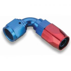 Earls 90 Degree Swivel-Seal Hose End AN -8 - Red/Blue 809108ERL