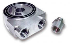 Earls Billet Aluminum Sandwich Style Oil Thermostat - 3/4-16 Center Post - AN -10 Female - O-Ring Seal 502ERL
