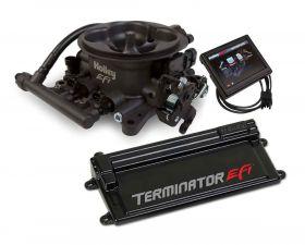 Holley Terminator EFI 4 BBL Kit w/Transmission Control-Hard Core Gray 550-408